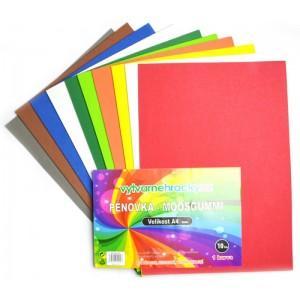Pěnovka barevná - 10 ks, mix barev, A4 - cca 2 mm