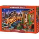 Puzzle Castorland 1000 dílků - Světla Brooklinského mostu