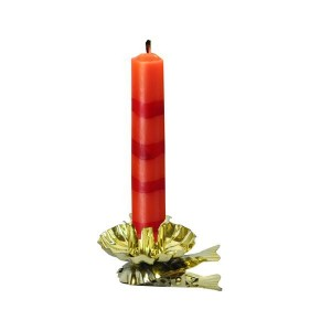 Držák svíček na stromeček, 10 ks, zlatá