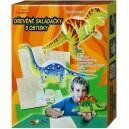 Dřevěné skládačky s obtisky Dinosauři - krabice