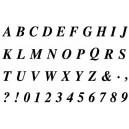 Gelová razítka- Abeceda a čísla