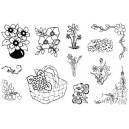Gelová razítka- Květiny - CS-6*6204