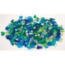 Korálky plastové big- 1000ks modrozelené