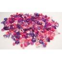 Korálky plastové big- 1000ks růžovofialové