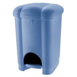 Koš na odpadky CAROLINA, objem 16 l, modrý