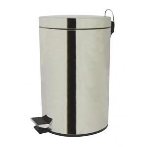 Koš na odpadky nášlapný, nerez, objem 12 l