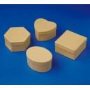 Krabičky papírové 12ks - 4 druhy po 3 ks