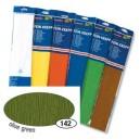 Krepový papír- Zelený olivový 50cm x 2,5m