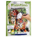 Malování podle čísel- Tygří rodinka