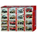 Minipuzzle 54d. - Terení auta- mix 32ks v balení
