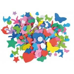 Pěnové výseky sáček 250ks- mix tvarů a barev