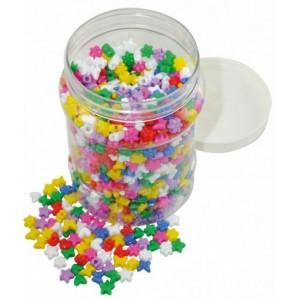 Plast.korálky 1400ks v doze