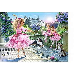 Puzzle 180 dílků - Baletky na terase