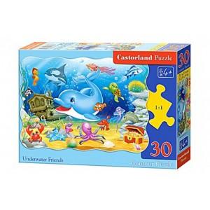 Puzzle 30 dílků - Delfín a jeho kamarádi