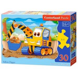 Puzzle 30 dílků - Žlutý bagr
