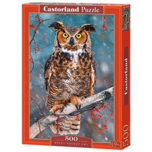 Puzzle 500 dílků- Výr ušatý