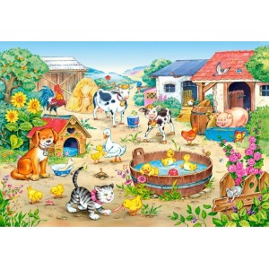 Puzzle 60 dílků-farma