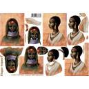 3D papíry pro vystřihování- Afrika 1