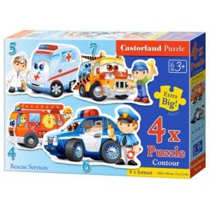 Puzzle sada 4v1-Povolání 4,5,6 a 7 dílků- pro nejmenší děti
