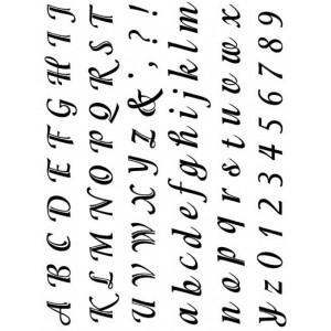 Razítka - písmenka a čísla psací, velikost 1,5-2cm