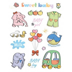 "Razítka gelová - Gelová razítka - ""Sweet Baby"""