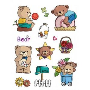 Razítka gelová - Gelová razítka - Medvídci s poštovní schránkou