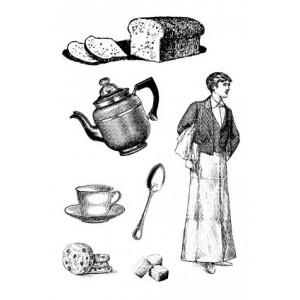 Razítka na pěnovce - Čaj o páté