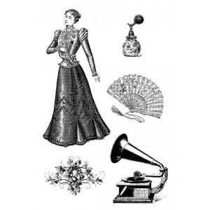 Razítka na pěnovce - Gramofon, vějíř