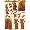 3D papíry pro vystřihování- Afrika 4