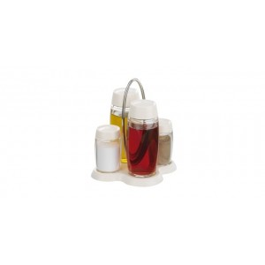 Tescoma: Souprava olej-ocet-sůl-pepř LOUIS, stojánek (béžový)