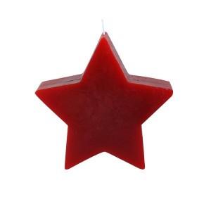 """Svíčka """"hvězda"""" červená"""