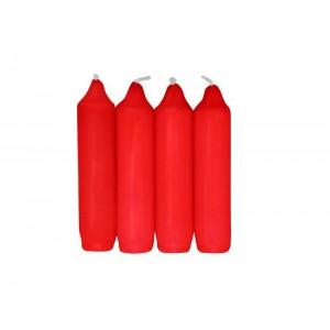 Svíčka advent, 4 ks, červená