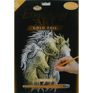 Škrabací obrázek- Koně