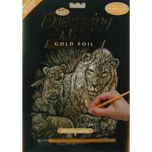 Škrabací obrázek- Lvi