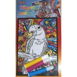 Třpytivé malování - Papoušek