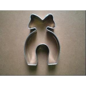 Vykrajovátko, tvar podkůvka s mašlí, 1 ks