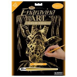 Vyškrabovací obrázek - Žirafa