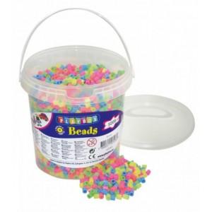 Zažehlovací korálky - 5000 ks korálků - kbelík, pastelové barvy
