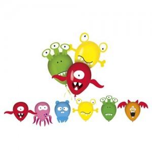 Balonky nafukovací latexové MY PARTY Monsters, 6 ks