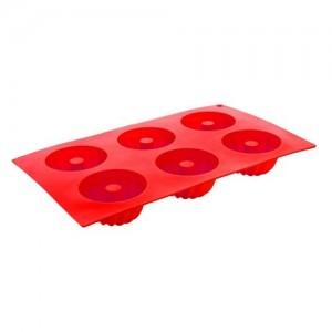 BANQUET  Forma na 6 báboviček silikonová CULINARIA Red 29,5 x 17,5 x 3,5 cm