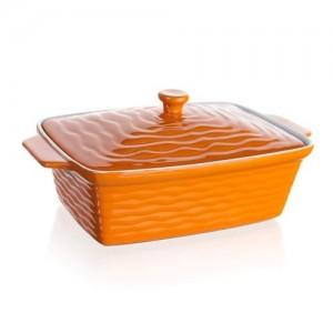 BANQUET Forma zapékací obdélníková s víkem CULINARIA Orange 33 x 21 cm