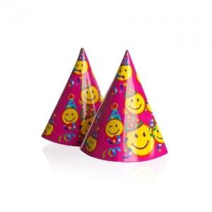 BANQUET Papírové párty kloboučky 6ks, vel. 16 cm