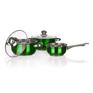 BANQUET Sada nerezového nádobí MAESTRO Green, 5 ks