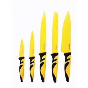 BANQUET Sada nožů s nepřilnavým povrchem SYMBIO NEW Giallo, 5 ks