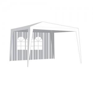 Bočnice zahradního stanu s oknem, pruhy