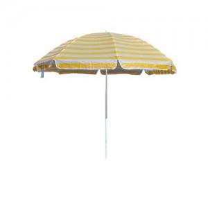 HAPPY GREEN Slunečník plážový 230 cm, , žluté pruhy