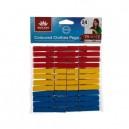 Sada dřevěných barevných kolíčků, 24 ks