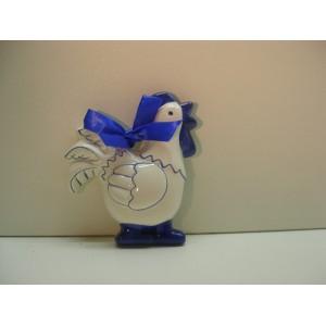 Kohout bílo-modrý, závěsná dekorace