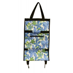 Nákupní taška na kolečkách dekor květin, 52x31x15cm