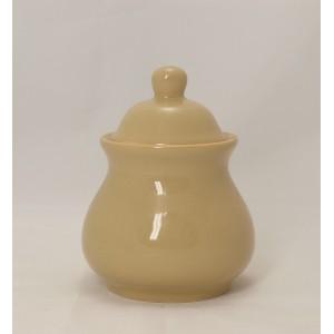 Cukřenka kulatá béžová, keramika